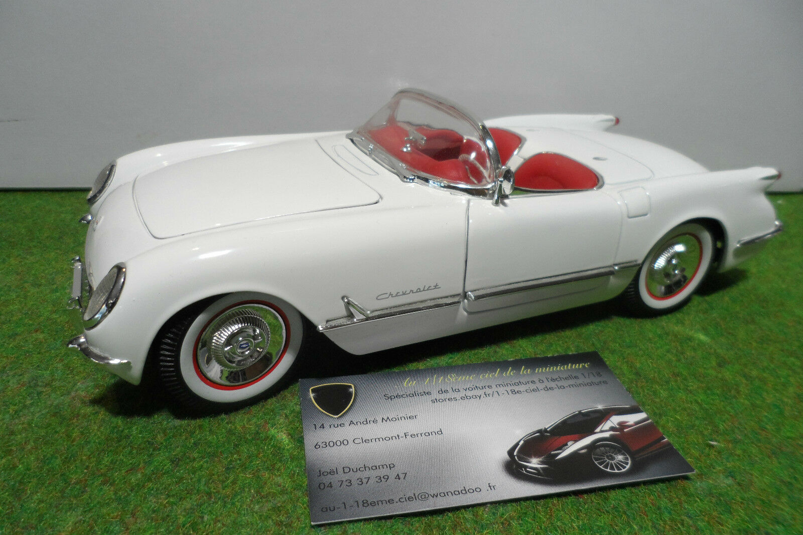 CHEVROLET  CORVETTE cabriolet 1953 50éme anniversaire 1 18 ERTL voiture miniature  100% garantie d'ajustement