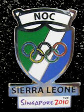 Singapore 2010 rare SIERRA LEONE YOG Olympic NOC team pin