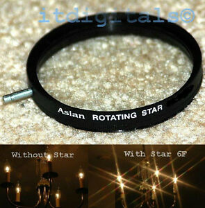 37mm Rotating Star 6F Lens Filter Six Point Flares Stars Special Light Effect