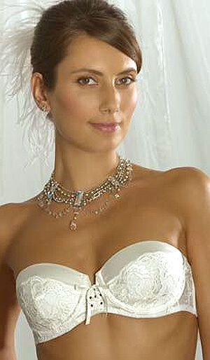 f2c0baef45 Charnos Bailey Bridal Strapless Multiway Bra Underwired in Ivory 34F ...
