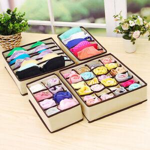 Underwear-Bra-Socks-Ties-Drawer-Storage-Organizer-Boxes-Closet-Divider-Tidy