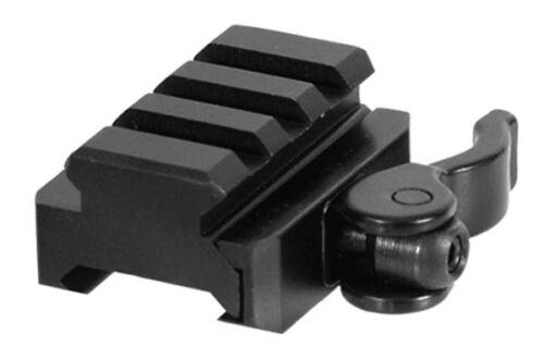 UTG 3-Slot QD Lever Mount Adaptor and Riser, Medium Profile (MNT-RSQD403)