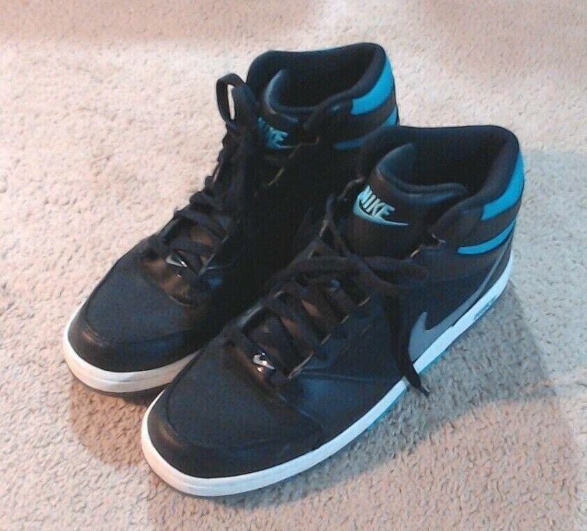 USED - Mens Basketball shoes - Black Sport Turquoise - Nike Prestige Iv High