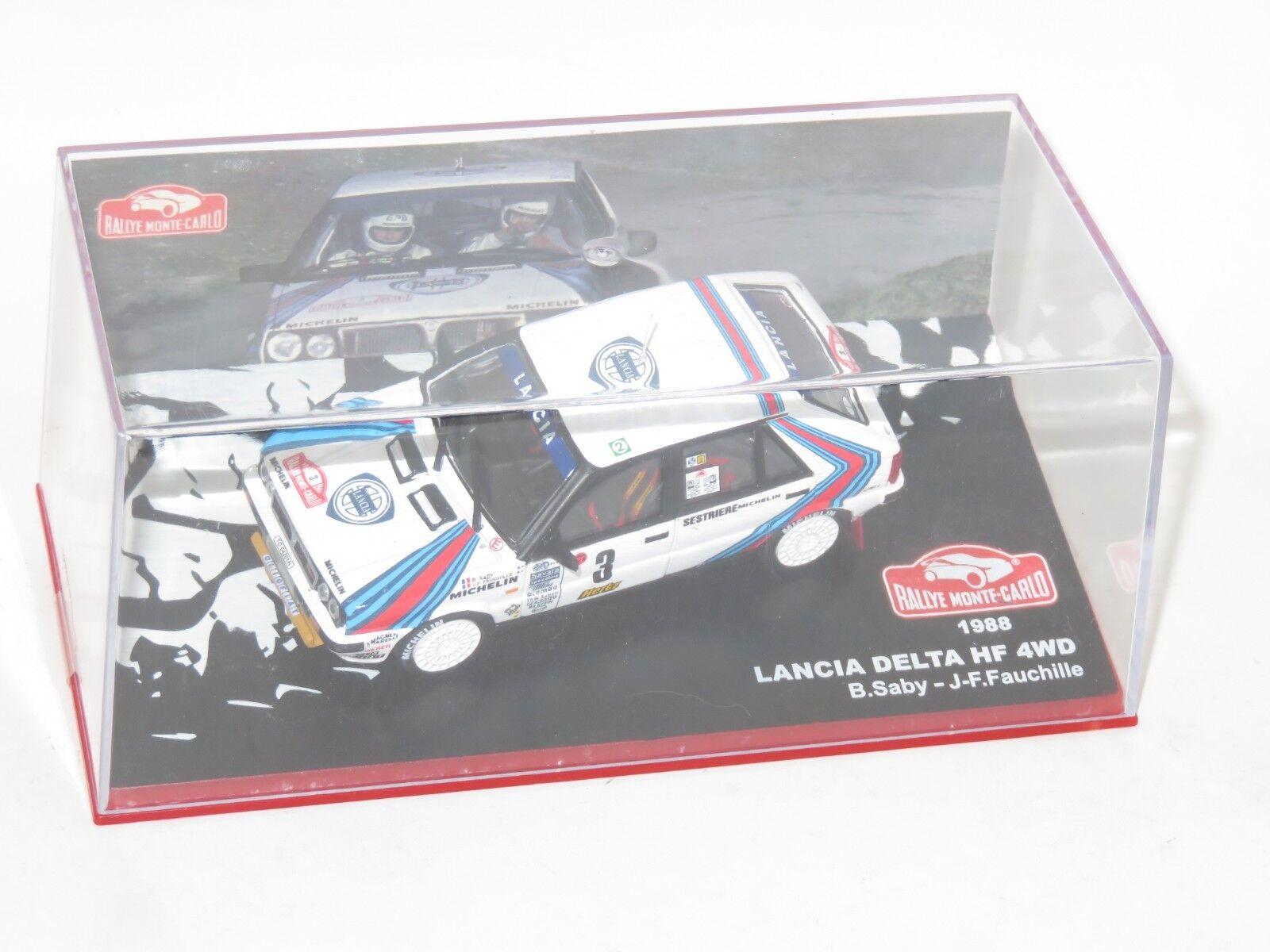 1 43 Lancia Delta HF 4wd  Martini Racing  Rally Monte Carlo 1988  B.Saby