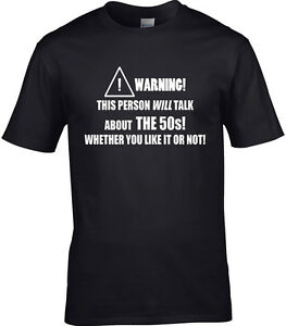 ANOS-50-50-Camiseta-Hombre-Divertido-de-tendencia-decadas-Historia-periodo