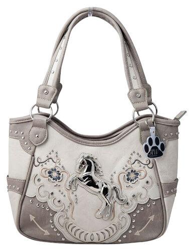 Horse Handbag Western Carry Concealed Shoulder Bag Purse Cowgirl Women Floral
