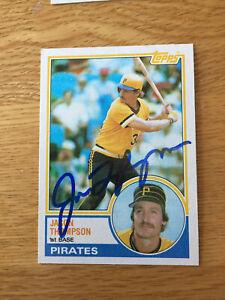 Pittsburgh Pirates Jason Thompson signed 1983 Topps card