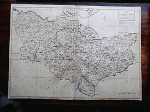 1769 Kent Andrews Dury Herbert Antique Index County Map Original