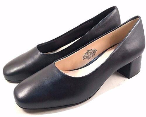 Nine West Work Leather Low Thick Heel Pumps Choose Sz//Color