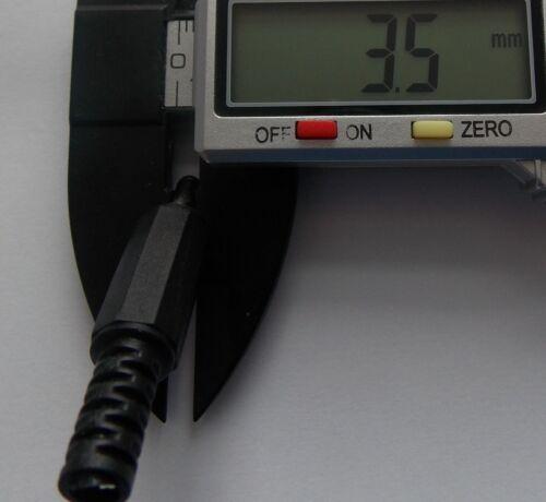 Nero 3.5mm x 1.3mm DC Power Jack Spina Maschio Adattatore pacco da 1-2