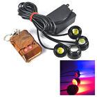12W Red+Blue 4LED Hawkeye DRL light Car Emergency Strobe Light Fog lamp+Remote