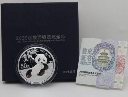 China 2020 Silver 150 Grams Panda Coin