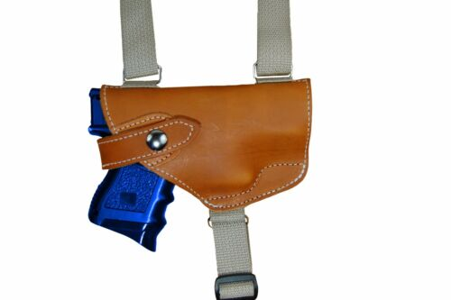 NEW Barsony Horizontal Tan Leather Shoulder Holster Sig-Sauer Full Size 9 40 45