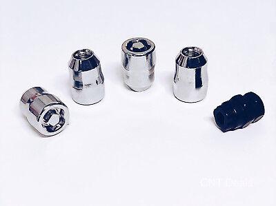 Set of 4 Chrome Socket Wheel Lug Locks 12x1.5 Lexus ISF IS200t IS250 IS350 GS RC