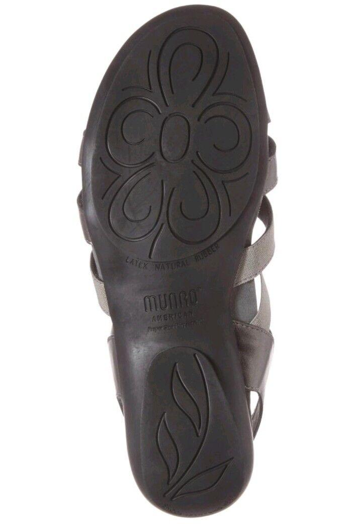 Munro Casual Damenschuhe Destiny Open toe Casual Munro Slingback Sandale Größe 6W Pewter 42f9d1