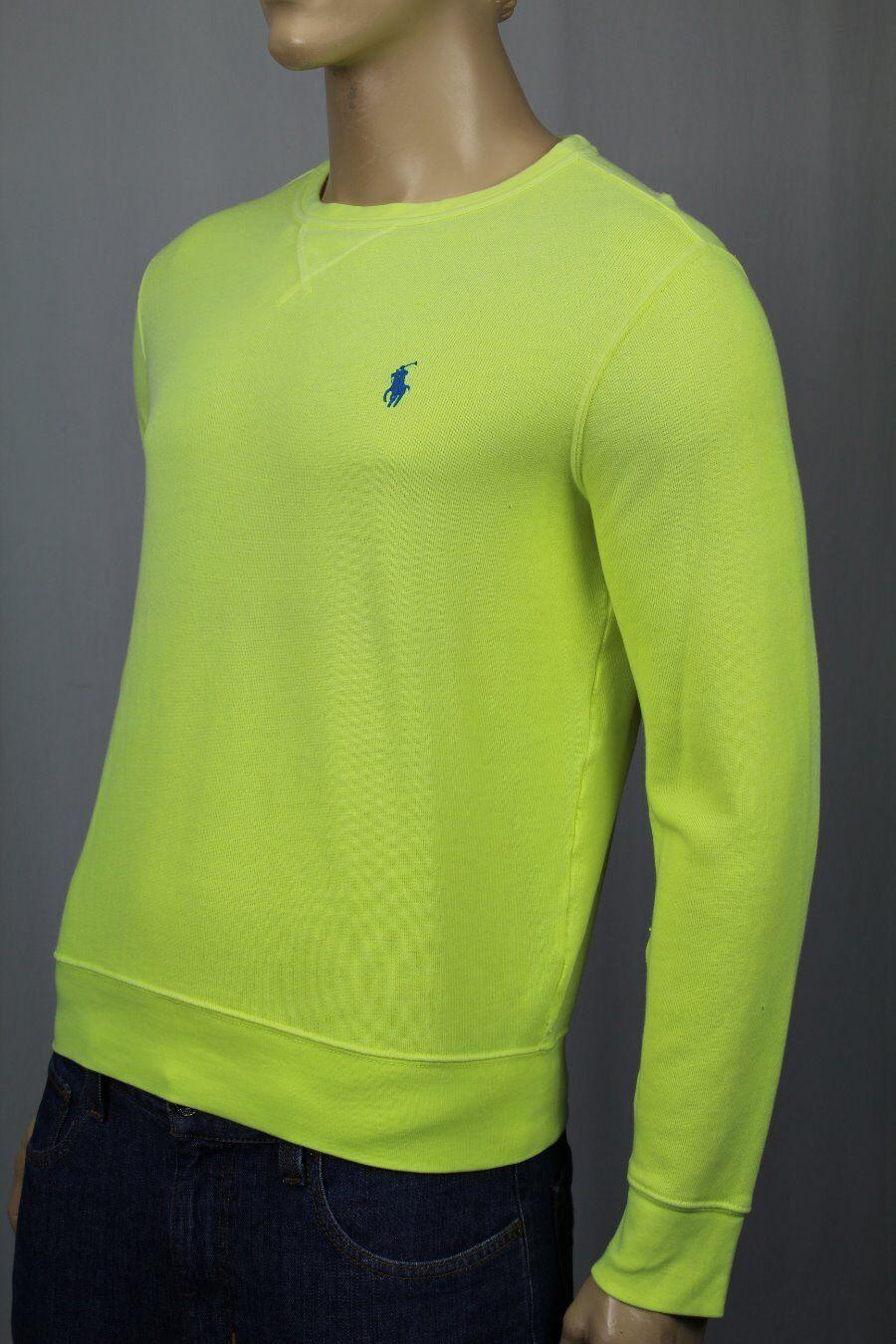 Polo Ralph Lauren Gelb Terry Cloth Cotton Sweatshirt NWT