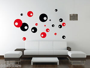 Detalles De Vinilo Decorativo 183 Circulos Retro Sticker Decoracion Paredes Wall