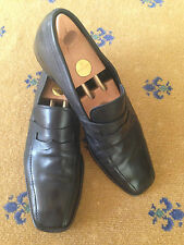 Prada Men's Shoes Black Leather Loafers UK 11 US 12 EU 45 Genuine