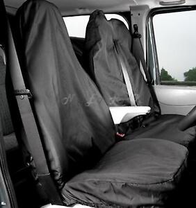 FIAT SCUDO VAN SEAT COVERS BLACK HEAVY DUTY WATERPROOF SINGLE /& DOUBLE  2+1