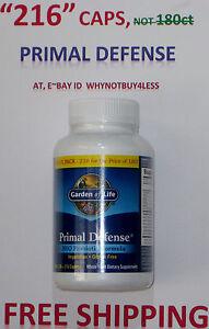 Garden Of Life Primal Defense 216 Caplets Not 180ct Probiotic Not Antibiot Ebay