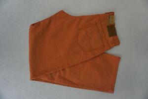 ALBERTO Tim Jeans Homme Coupe Confort Pantalon Gr.50 Env. W35 L34 Fin Orange Neu