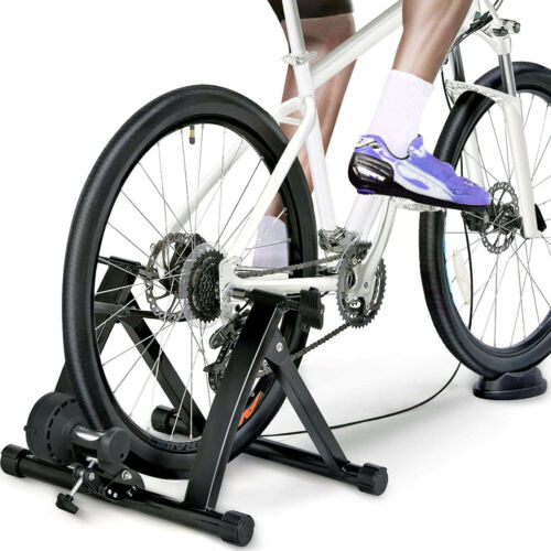 Indoor Exercise Bike Trainer Stand Portable Magnetic 6 Level Resistance Training