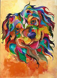 Australian-Shepherd-8X10-DOG-Colorful-Print-from-Artist-Sherry-Shipley