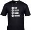 miniature 1 - Eat Sleep Game Repeat Kids T-Shirt Funny Gaming Tee Top Gamer