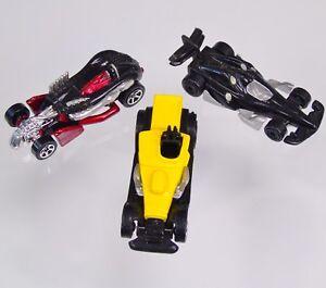 1996-Hotwheels-Salt-Flat-Racer-Mattel-1999-Race-Car-2002-Roadster-For-McDonald