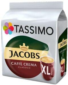 TASSIMO Jacobs Caffe Crema Classico XL Coffee Pod T Disc 8/16/32/48/80/160 Drink