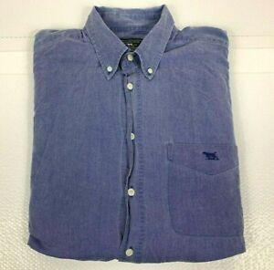 Rodd-amp-Gunn-Men-039-s-Button-Down-Shirt-Long-Sleeve-Shirt-Chambray-Size-S-Made-in-NZ