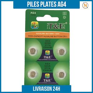 Piles-Plate-bouton-1-5V-Alcaline-AG4-0-Mercure