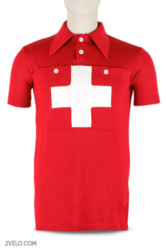 maglia SALE maillot Swiss Champion national vintage wool jersey new