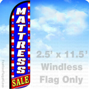 Windless Swooper Feather Flag 2.5x11.5/' Banner Sign Patriotic bz CAR WASH