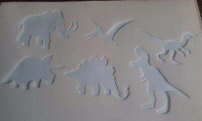 Plantilla de Pintura de Cara de dinosaurio Pack X 6 Stencils