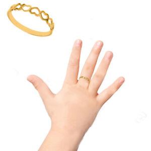 10K Solid Yellow Gold Heart Kids Ring Baby Children's Size 3 | eBay