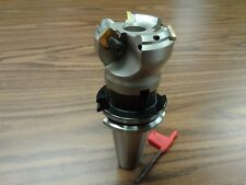 2 45 Degree Indexable Face Shell Mill W Cat40 Arborface Milling Cutter New