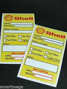 Shell Oil Change Service Reminder Sticker Set Of 20 Pvc