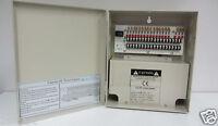 Cctv Power Supply Box 18-port Fused Outputs, 12v Dc, 10amp