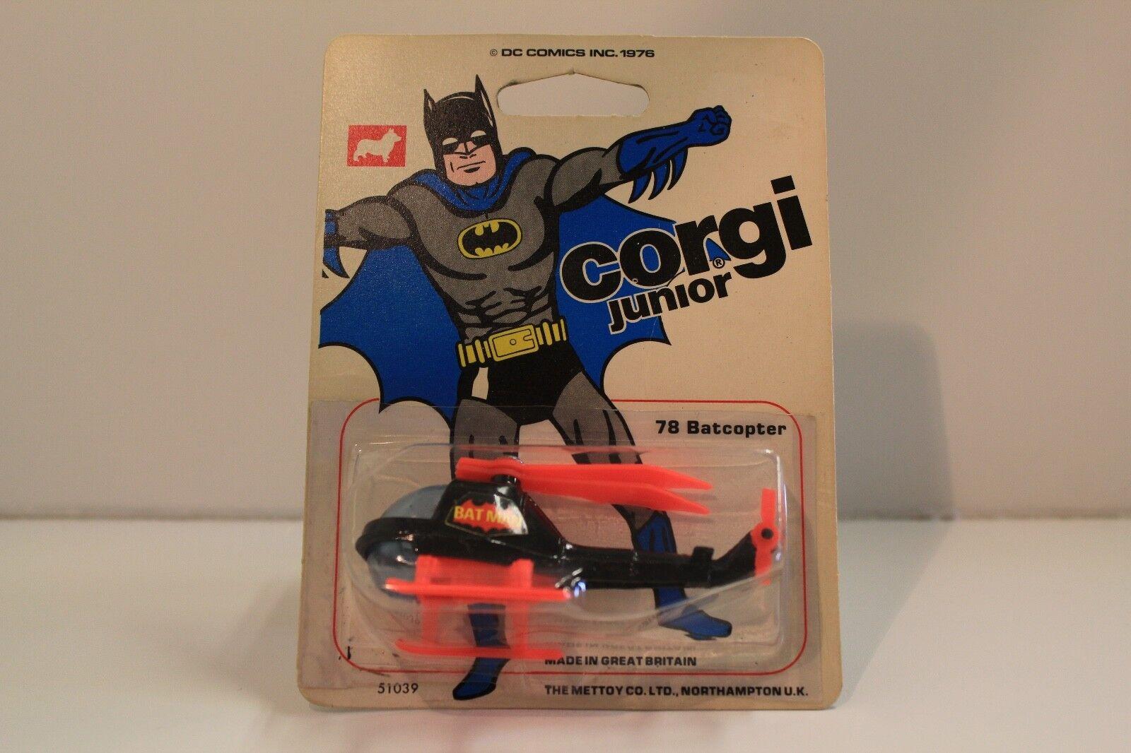 Corgi Junior no  78  Batman's baticóptero  - nero (1976) original sin abrir