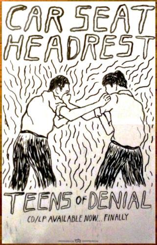CAR SEAT HEADREST Teens Of Denial 2016 Ltd Ed RARE NEW Poster FREE Indie Poster