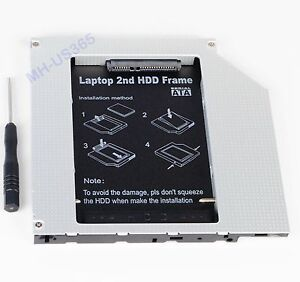 2nd-SSD-HDD-IDE-to-SATA-Hard-Drive-Case-Caddy-for-HP-DV2000-DV6000-DV9000-DV2156