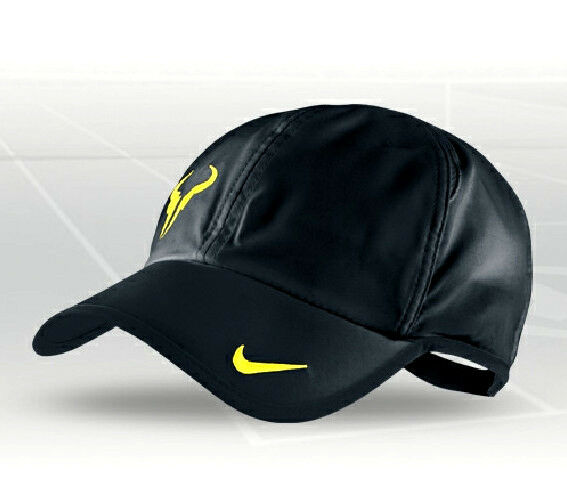 9e81b64b41f Nike Bull Featherlight Dri Fit Cap Hat Running Tennis Federer Nadal Black  Unisex for sale online