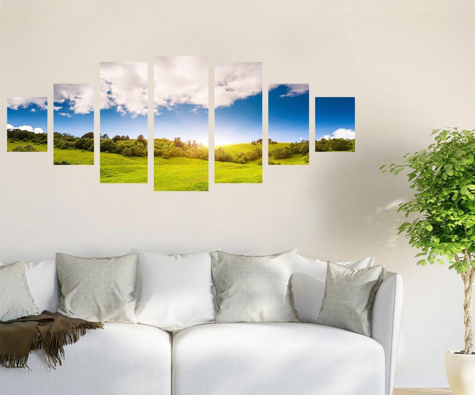 3D bluee Sky Meadow 676 Unframed Print Wall Paper Decal Wall Deco Indoor AJ Wall