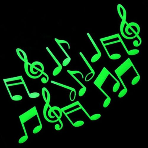 Sticker Music Note Stickers Bedroom Decor Home Decoration Glow In The Dark