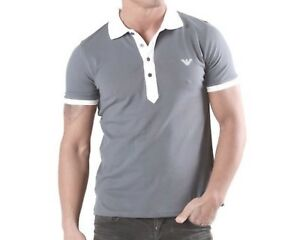 New-Mens-Emporio-Armani-EA-Jeans-Gray-Size-S-Polo-Shirt-J1M42-J2X7J