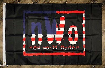 "LWO /""Latino World Order/"" Wrestling Flag 3x5 ft Black Banner WCW WWF WWE Man-Cave"