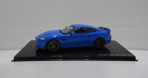 Original Jaguar XKR-S coche modelo French racing Blue 1:43 50 jdcaxkrs azul
