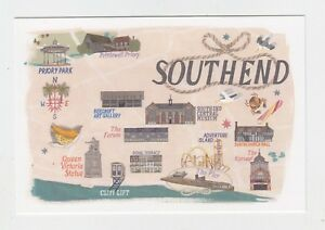 Mint-Map-Postcard-of-Southend-by-Star-Editions