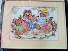 Dimensions Counted Cross Stitch Teddy Tea Party 14x10